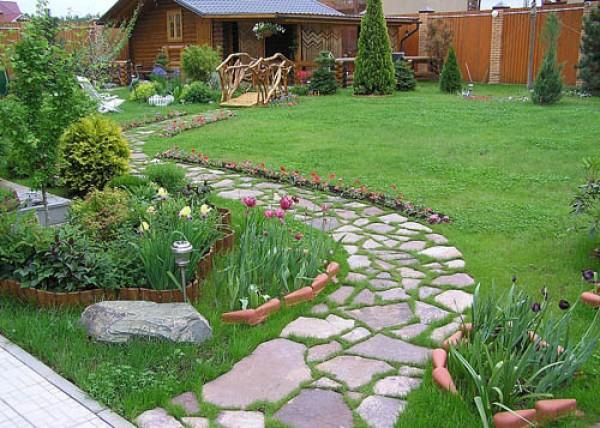 Мощеные дорожки на садовом участке